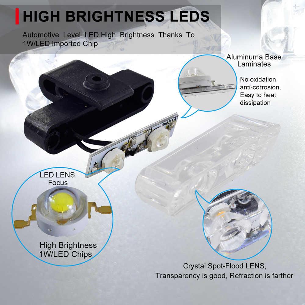 Brilhante Super Carro Strobe Piscando Polícia Emergência luz 12 V LED DRL Luzes de Nevoeiro para a Motocicleta Ambulância Aviso Grelha Flasher