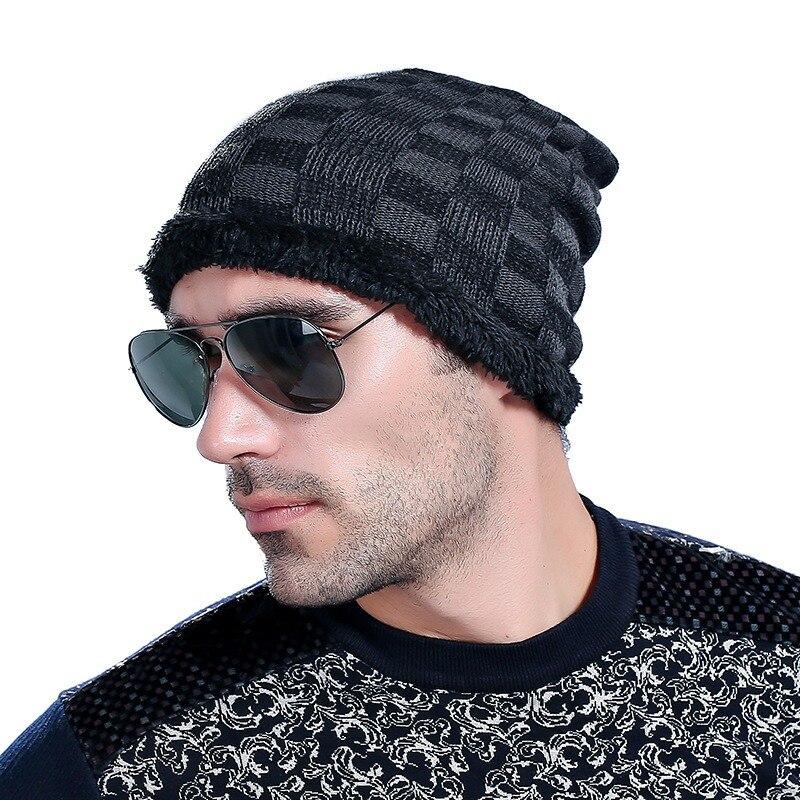 Hot Sales Elastic Men Elastic Hat Hat For Man   Skullies     Beanies   Solid Knitted Hat Warm Cap Men   Beanies   Cap