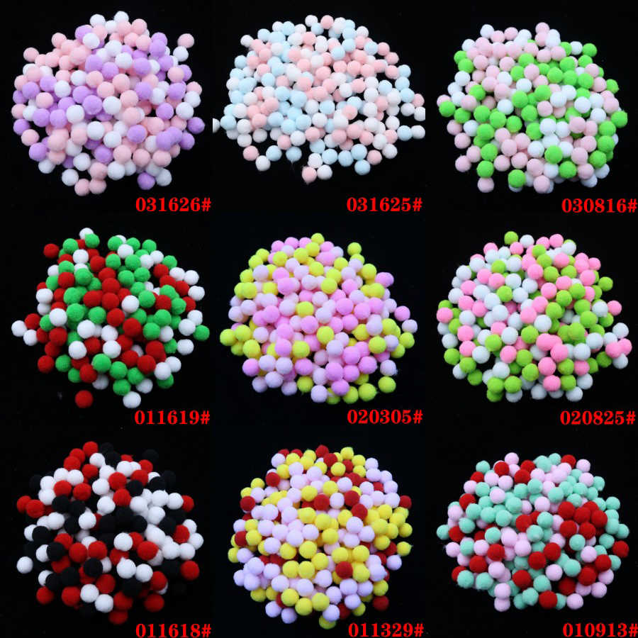 10mm 400 pcs Macio Plush Bolas Multicolor Bola De Pêlo Pompom para Casa Manual Do Ofício Dos Miúdos Favores Do Partido DIY Educacional bolas de brinquedo 1 cm