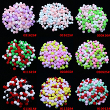 10mm 400pcs Soft Plush Balls Multicolor Pompom Fur Ball for Home Party DIY Craft Kids Favors Manual Educational Toy 1cm