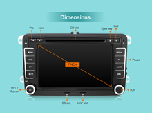 2 Din car dvd player Aux gps Stereo 7 inch