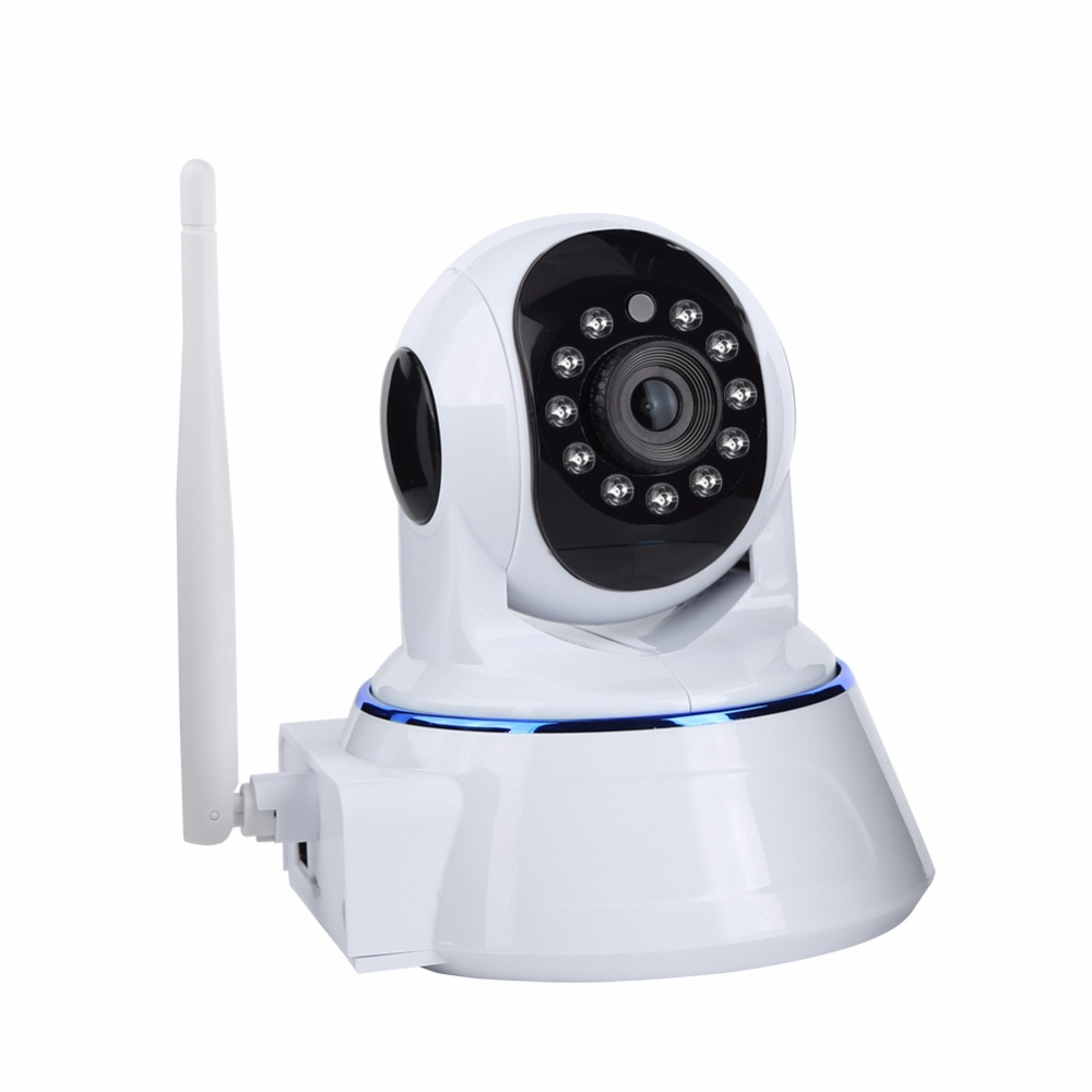 ESCAM QF007 1MP 720P WiFi IR Alarm Pan/Tilt IP camera Support 64G TF CARD Night Vision Motion Detection Wireless IP Camera new surveillance ip camera pan tilt p2p ir night vision motion detection wireless wifi indoor home security support 64g tf card