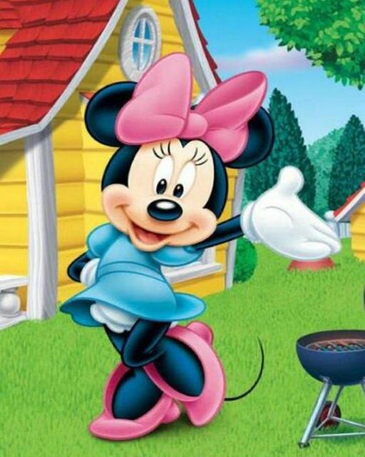 Diy diamante pintura Cruz puntada Mickey mouse pegatinas diamante ...