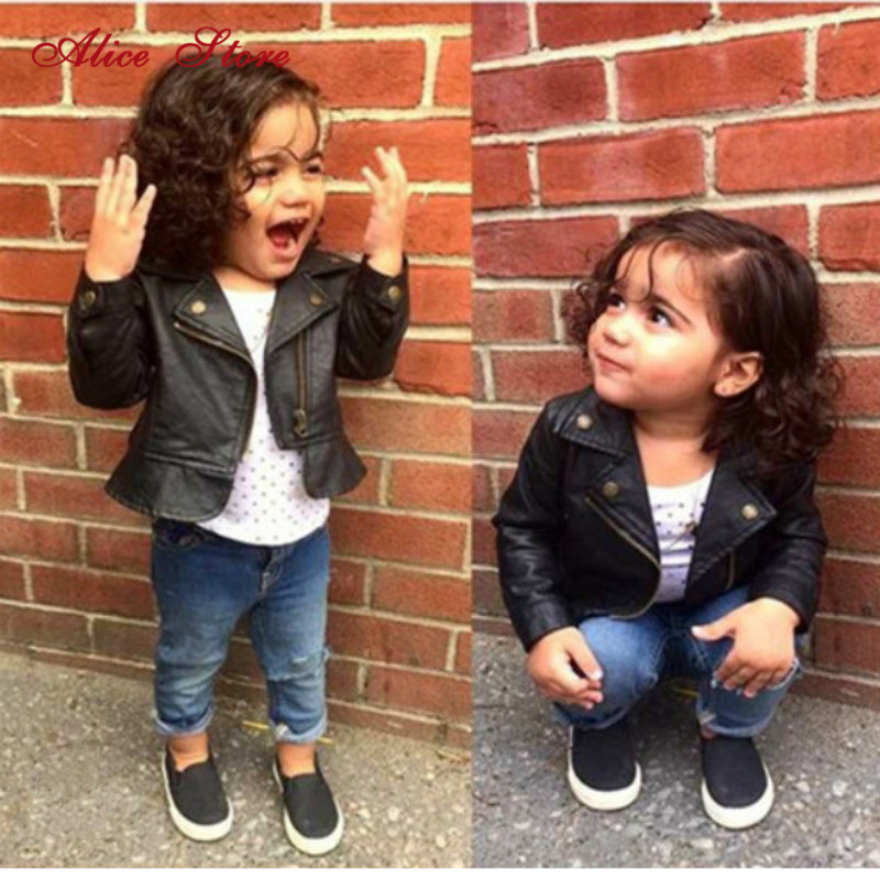 Fashion Baby Girls Leather Jackets PU Short Coat for Girl Outerwear Cloth infant baby jacket High Quality Spring Newborn Coats 1