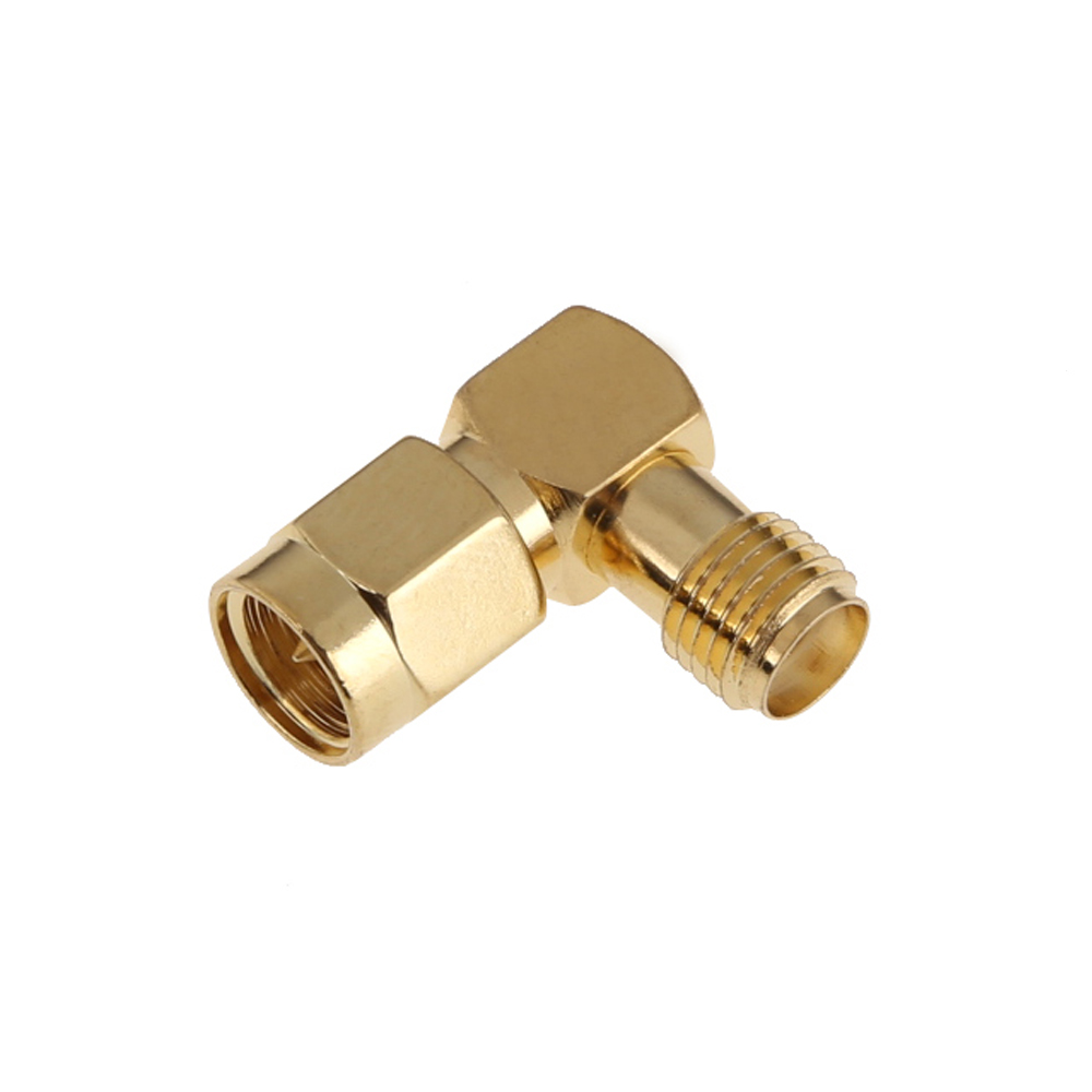 SMA Male Connector to SMA Female Jack Plug Right Angle RF Adapter Connector electrical accessories BS 1pc sma male to sma female right angle 90 degrees rf coaxial connector adapter
