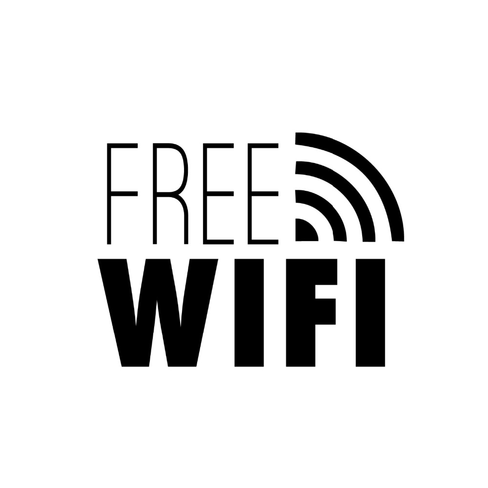 Free Wifi Sign Wall Decal Shop Window Stickers Vinyl