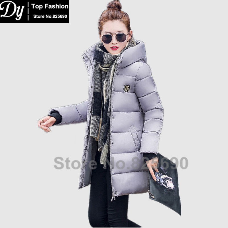 ФОТО Warm Winter Jackets For Women Fashion Slim Down Cotton Parka Women's Winter Jacket Coat Female Water High Collar Hooded Jacket