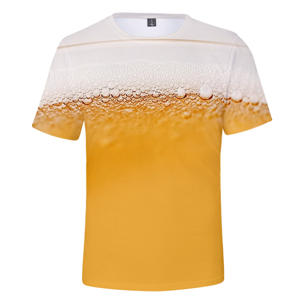 Harajuku Beer 3D T-Shirt Men's /Women's Loose Personality T-Shirt 2019 Summer Beer 3D T Shirt Men Leisure Tees image