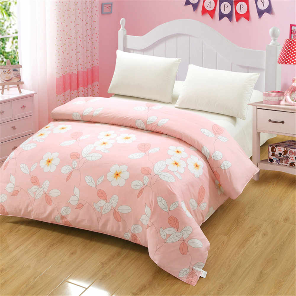 8b9267ab4a ... Green white Flower tree Print Bedding Pastoral cartoon Style pattern  beautiful Floral cotton comfortable Duvet Cover ...