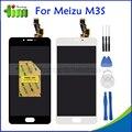 Preto/branco 5 polegada para meizu m3s y685c y685q y685m meizu meilan m3s mini display lcd + touch screen digitador assembléia + ferramentas