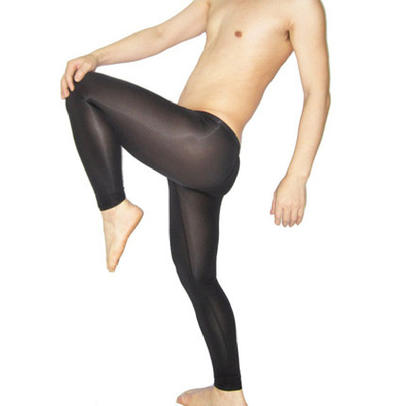 Sexy Thin Transparent See Through Mesh Elastic Underwear Men's Sleep Lounge Sleep Bottoms Pants