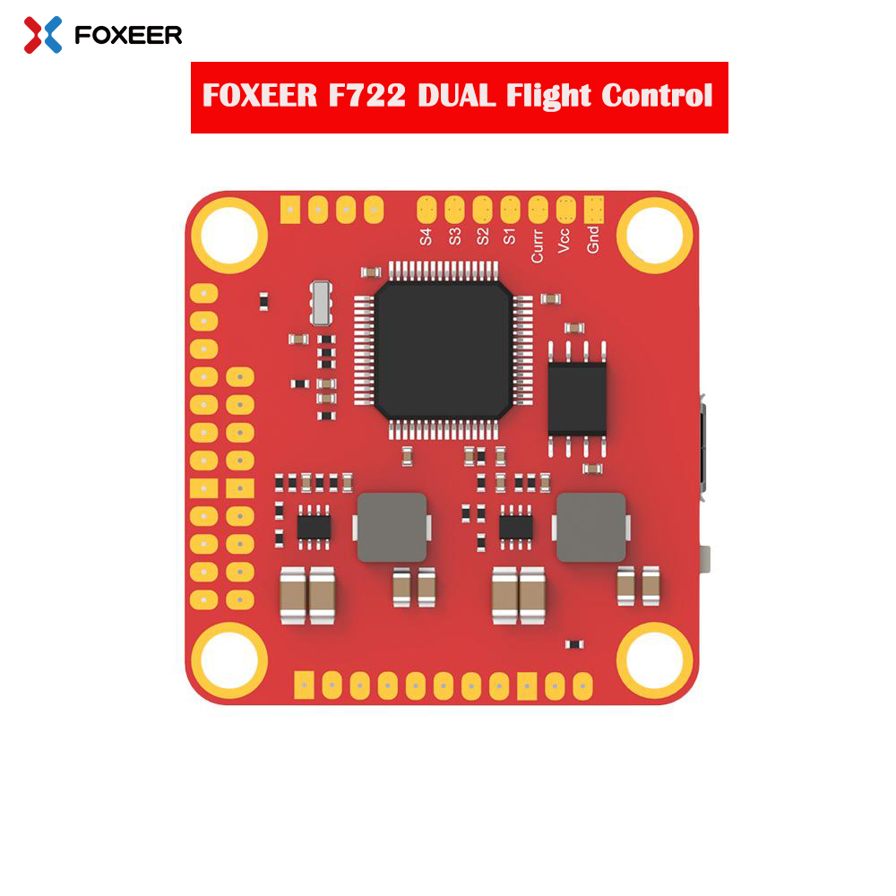 New Arrival Foxeer F722 DUAL Flight Controller OSD Gyro MPU6000 &<font><b>ICM20602</b></font> 3-6S with 30.5*30.5mm mounting hole for FPV Racing image