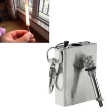 Пожара стартера флинт мгновенный аварийного матч зажигалка серебряный выживания металл прочный