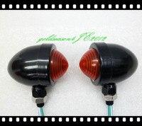 From Aftermarket Black Red TURN SIGNAL Bullet LIGHT Fitting For Kawasaki Vulcan VN 750 800 900