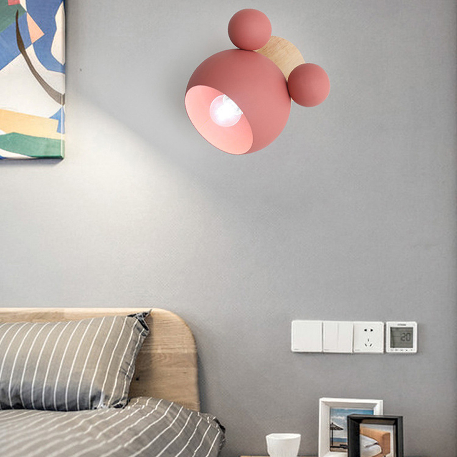 Simple creative E27 wall light decoration Nordic designer wall lamps for living room Hotel Corridor Restaurant Coffee Bar in LED Indoor Wall Lamps from Lights Lighting
