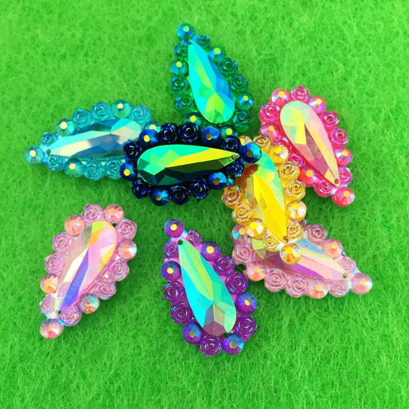 Shoes Fashion Colorful Crystal Rhinestone Clay Beaded Shoes Decorations 12 Pieces/lot Shoe Accessories