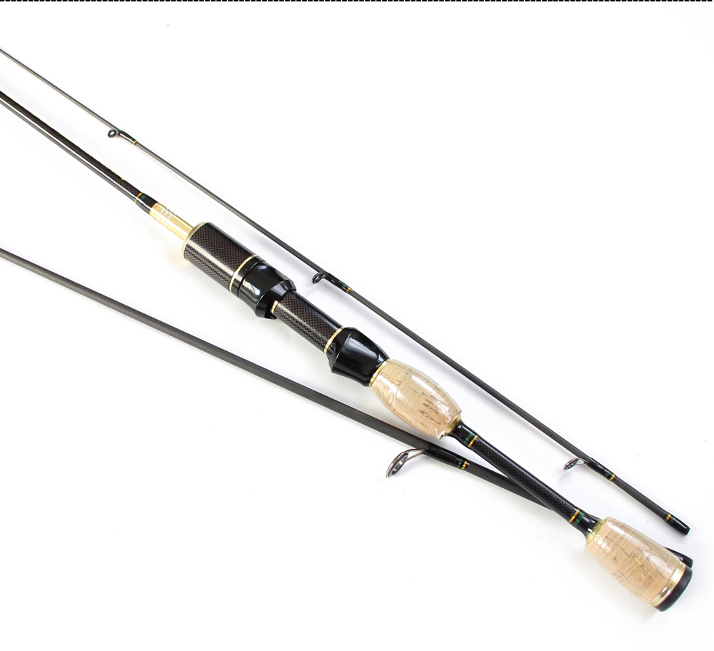 Cheap UL Casting Spinning Fishing Rod 1.8m Ultra Light Carbon Fiber Rods 2 Top Tips 3 Sections Lure Weight 0.8-5g Tackle Pesca  (9)