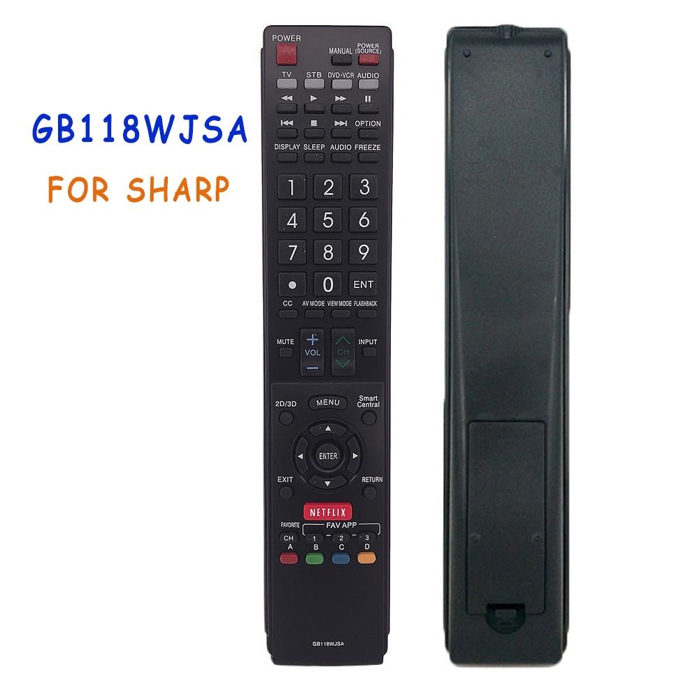 Replacement GB118WJSA Remote Control For SHARP LCD TV AQUOS TV 2D 3D NETFLIX GB005WJSA GA890WJSA GB004WJSA Remoto Fernbedienung