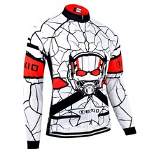 BXIO Invierno Maillot Ciclismo Blanco Invierno Ciclismo Jersey de Costura transparente Camisa Larga Sólo Ropa de La Bicicleta Personalizada 139-J