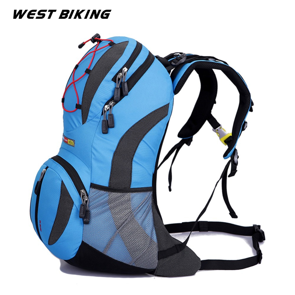 WEST BIKING 22L Backpack for Bike Bicycle Cycling Bag Travel Running Sport Cycling Backpack+2L Water Bag Road Mountain Bag-in Bicycle Bags & Panniers from Sports & Entertainment    3