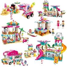 女の子海辺ビーチ遊園地ハウスパーティーイルカ救助ビルディングブロックレンガ友人子供のおもちゃ