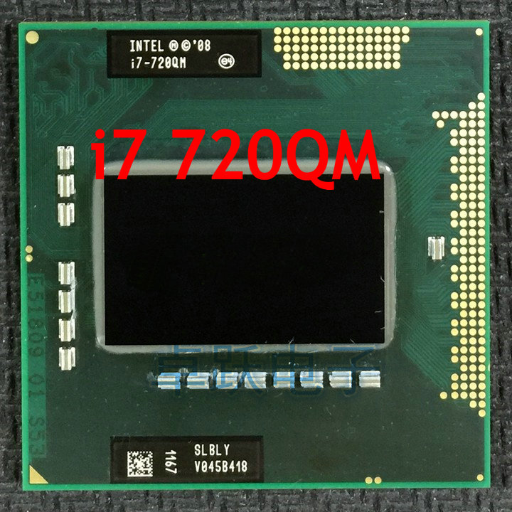 US $28 9 |intel CPU laptop i7 720QM 6M Cache 1 6GHz to 2 8GHz i7 720QM  SLBLY PGA988 45W Laptop Compatible PM55 HM57 HM55 QM57-in CPUs from  Computer &