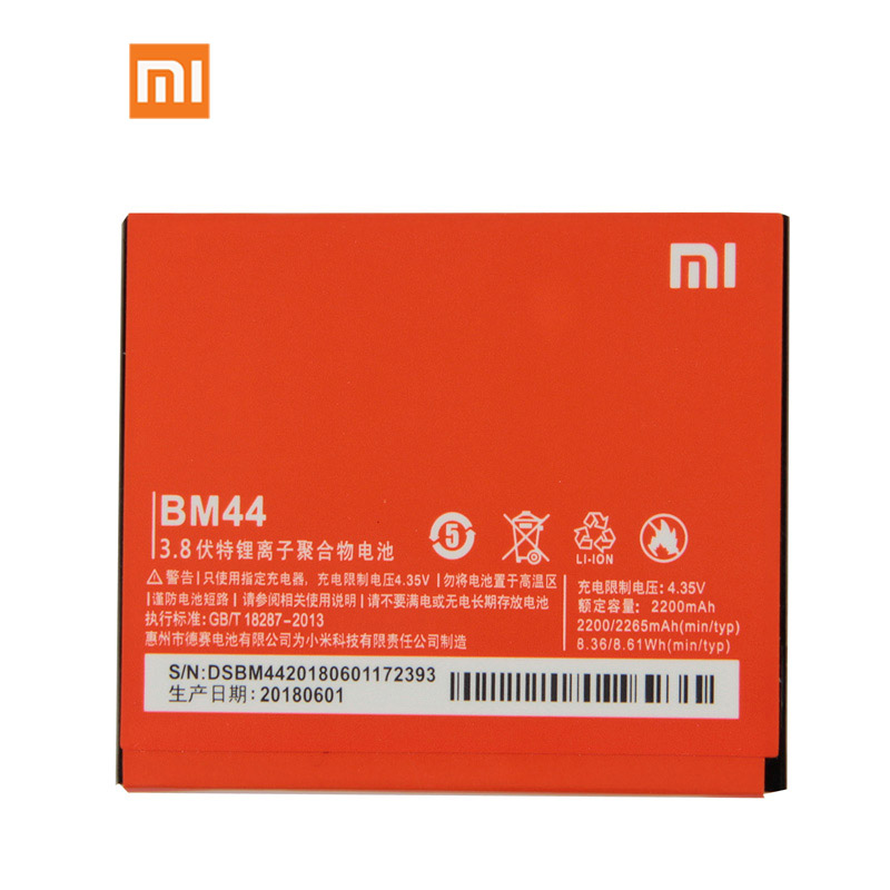 <font><b>Original</b></font> <font><b>Xiaomi</b></font> BM44 BM41 Phone <font><b>Battery</b></font> For <font><b>Xiaomi</b></font> 2A <font><b>Xiaomi</b></font> <font><b>Redmi</b></font> <font><b>1S</b></font> 2050mAh image