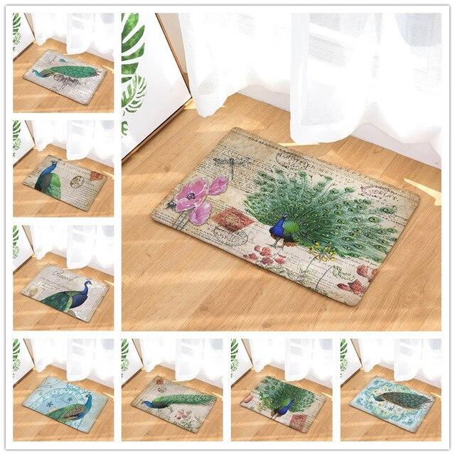 Bodenmatte Pfau Gedruckten Rutschfeste Duschmatte Bad Teppich Badematte  40x60 Cm OMG Wc Teppiche Hause Dekoration 40x60