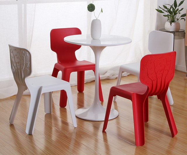 Moderne classic kids plastic stapelbare stoel baby stack plastic