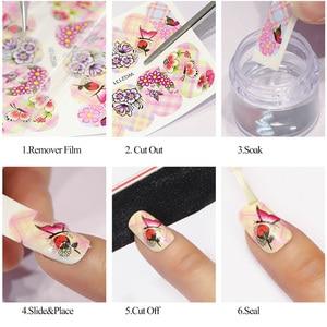 Image 5 - 12pcs Romantic Paris Designs Nail Art Stickers Decals Cartoon Perfume Sliders On Nails Wraps Tip Charms Decoration TRBN1141 1152