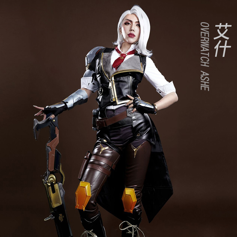 OW Ashe Cosplay Costume Elizabeth Caledonia Cosplay Costume Outfit Full Suit For Adult Women Men Halloween Carnival Costumes