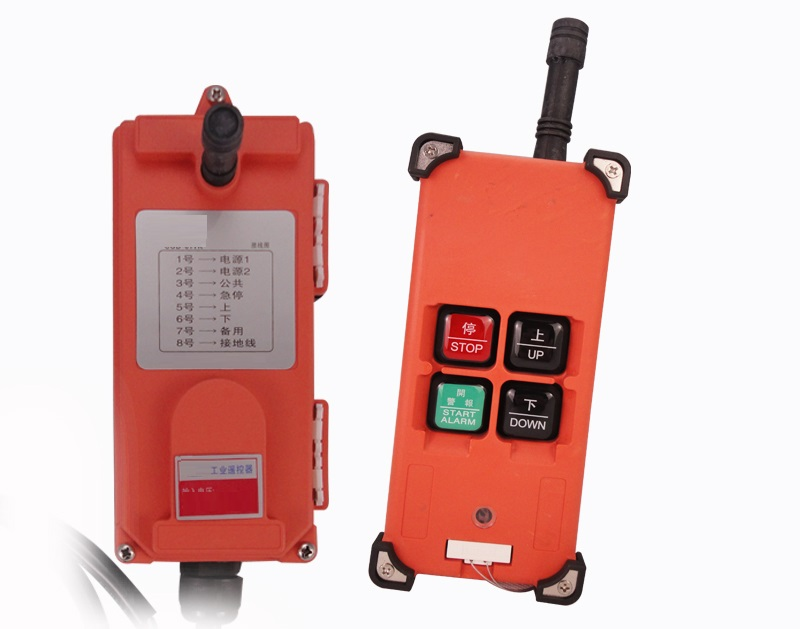 100m Control Distance 24V Wireless Industrial Hoist Crane Remote Control 2PCs Transmitter 1PC Receiver Remote Control for Lifting Machine