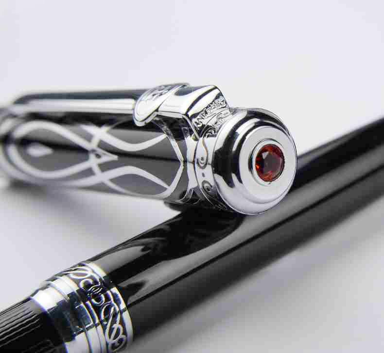 Duke 146 Iridium M Nib Fountain Pen Original European Taste Pen Noble Black