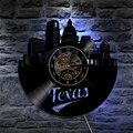 1 шт.  настенные часы в техасском стиле  США  светодиодное освещение  настенный светильник  Современная подсветка  крутая интерьерная Декора...
