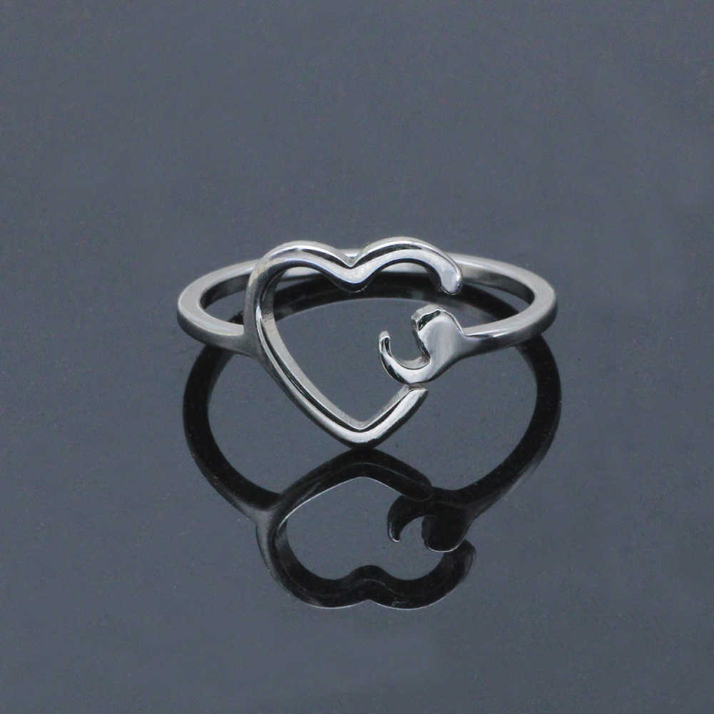 Semicolon Ring Semi colon Ring Suicide Depression Awareness Pause Ring Heart Girl Inspiration Jewelry Stainless steel Gifts