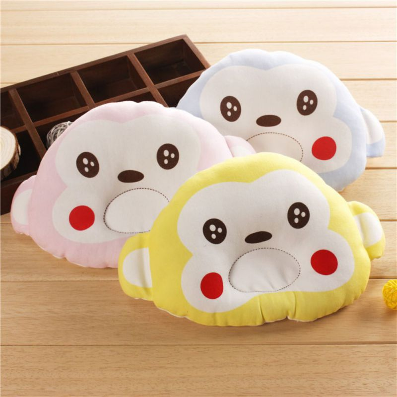 2018 Toddlers Baby Soft Cotton Pillow Cartoon Animal Shape Pillow Sleep Head Locator Rollover Skin Friendly Sleeping Bedding
