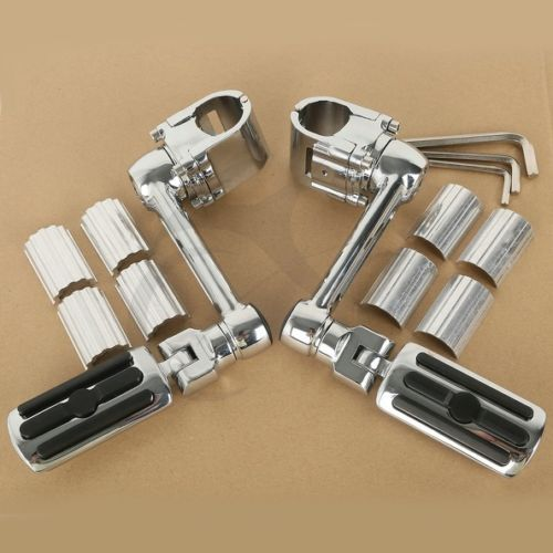 1 1/4'' Highway Chrome Front Foot pegs Footrest For Honda GL1800 GOLDWING chrome lion paw foot pegs