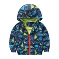80-120cm Cute Dinosaur Kids Boy Jacket Baby Jacket Windbreaker Korean Children Clothing Sport Spring Print Outerwear Coats