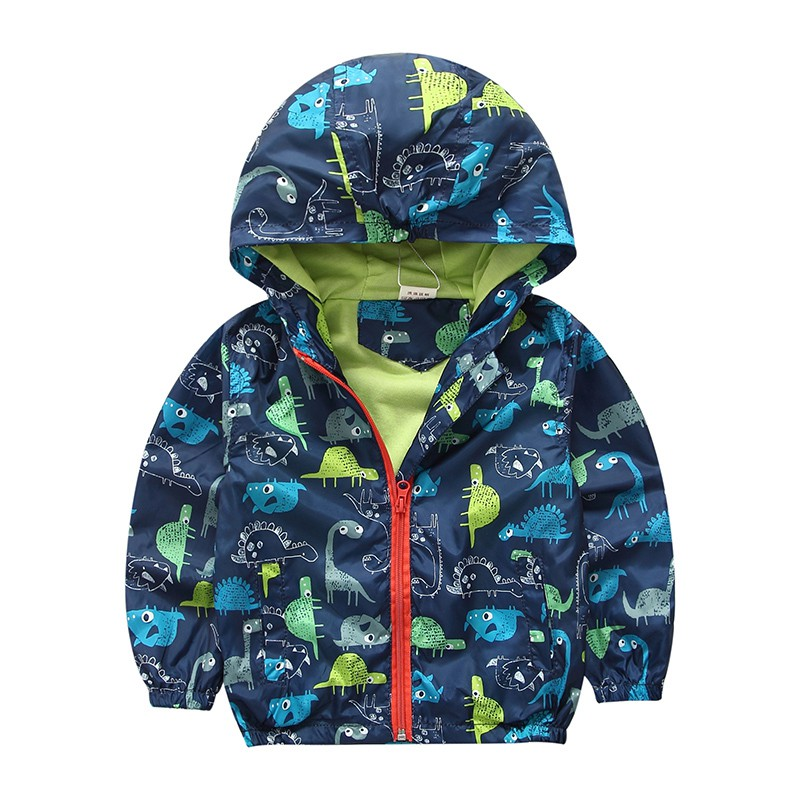 80 120cm Cute Dinosaur Kids Boy Jacket Baby Jacket Windbreaker Korean Children font b Clothing b