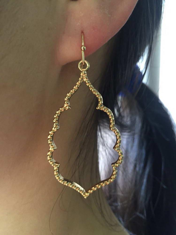 ZWPON zlatne naušnice u obliku marokanskih naušnica, karirane - Modni nakit - Foto 3