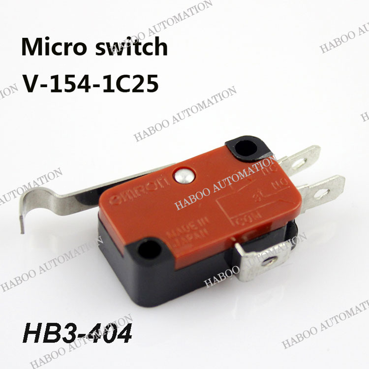 50pcs packing HABOO high quanlity micro switch V-154-1C25 1NO+1NC reset limit switch 16V 125V 250Vmini switch