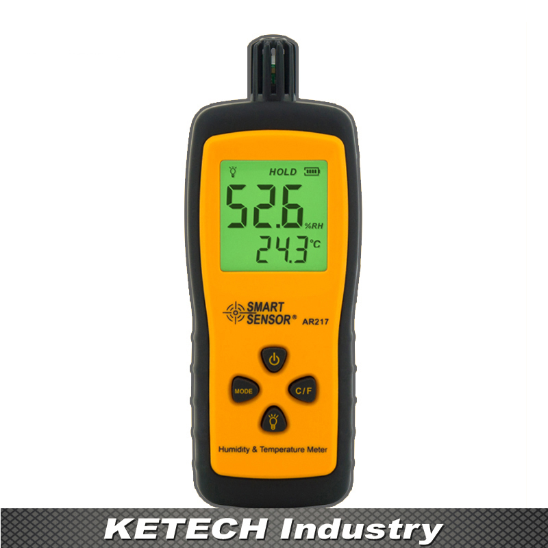 AR217 Handheld Hygrometer Digital Humidity Temperature Gauge Meters