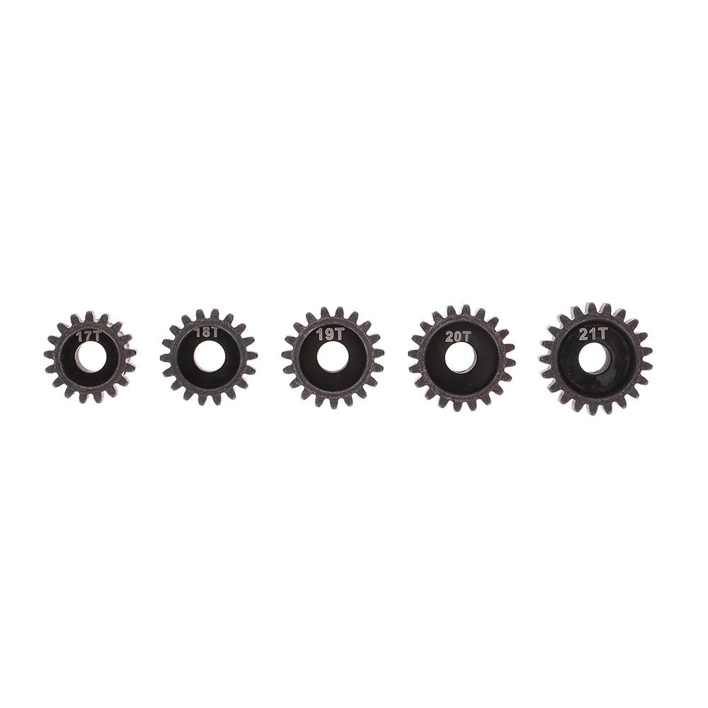 ABWE Best Sale 5Pcs 32DP 5mm 17T 18T 19T 20T 21T Motor Pinion Gear Combo Set for 1/10 RC Car Brushed Brushless Motor цены онлайн