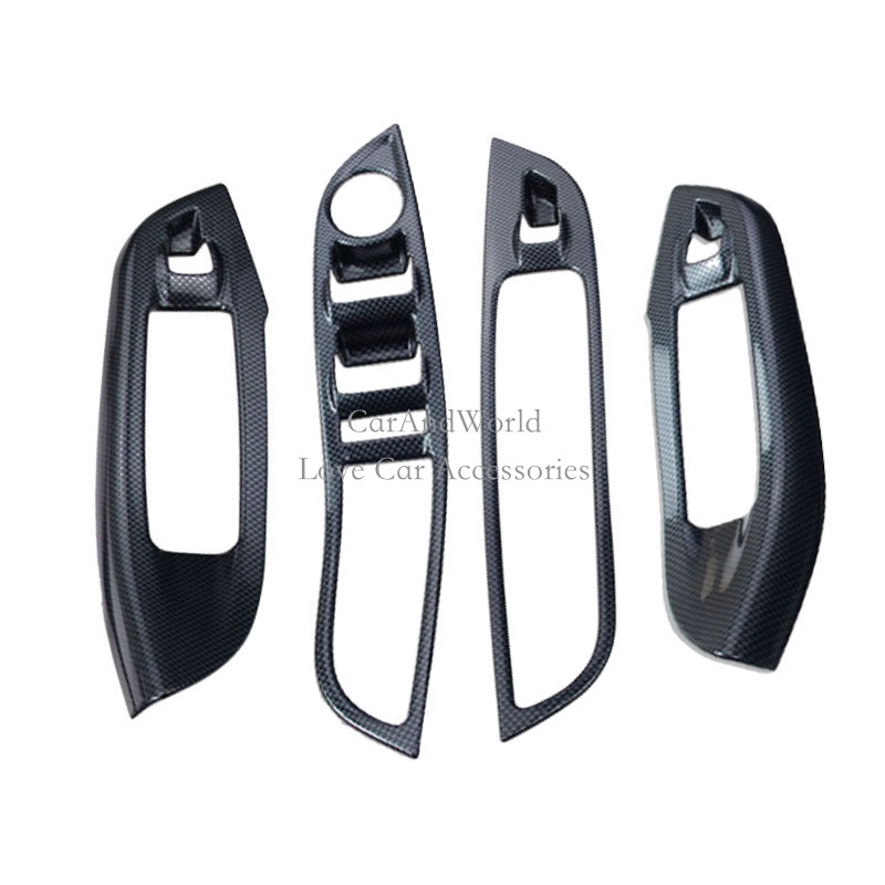 For Ford Focus 3 2012 2013 2015 2016 Glass Switch button cover trim Door window Interior Panel Car Styling Accessories car styling chrome side upper edge window trim set for ford focus mk3 sedan 2012 2013