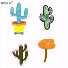 The Cactus Bonsai Patches Iron On Or Sew Fabric Sticker For Clothes Badge Patch Embroidered Appliques DIY High-grade Fine