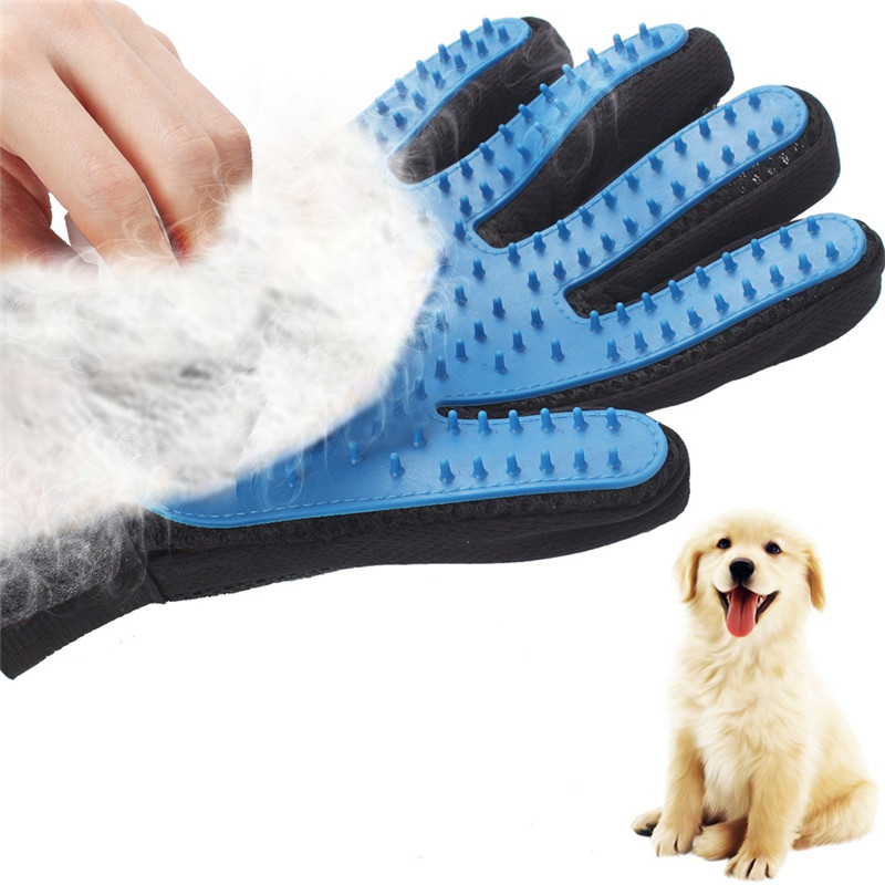 Silicone Pet Dog Brush Glove Deshedding Gentle Efficient Pet Grooming Glove Dog Bath Cat Cleaning Supplies Pet Glove Hair Remove