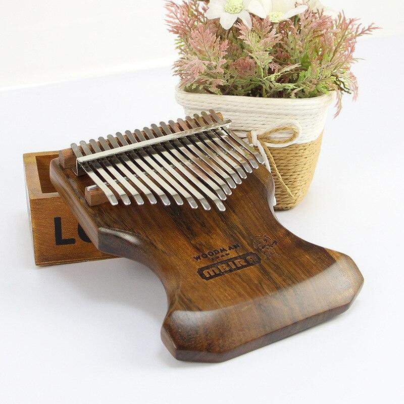 Nouvelle Arrivée 17 Clé Doigt Kalimba Ébène De Haute Qualité Mbira Sanza Pouce Piano Clavier Marimba Bois Instrument de musique