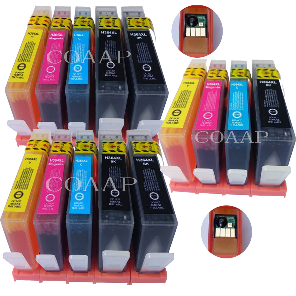 14 Compatible Ink Cartridge hp 364XL CN684EE CB323EE CB324EE CB325EE for Photosmart 5520 7510 C6380 C5390