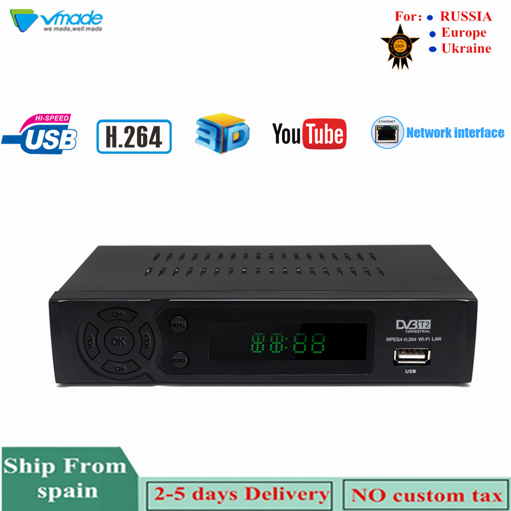 Vmade HD Digital Terrestrial TV Receiver DVB-T2 8939 Built-In Network H.264 MPEG-2/4 TV Set-Top Box Support Megogo Youtube
