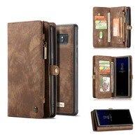 Casemeオリジナル財布バッグケース用サムスンglalaxy注8ビジネススタイルの革財布カードポケットカバー電話バックケースカバ